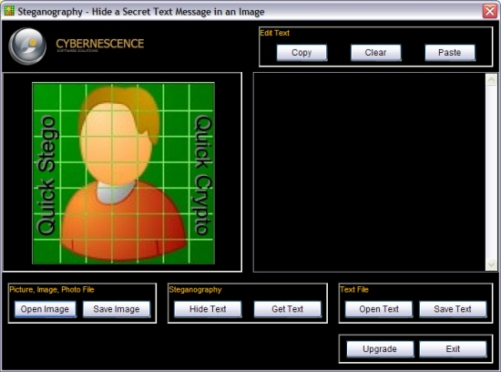 Free Steganography Software - QuickStego