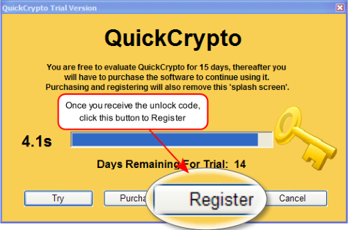 Register QuickCrypto